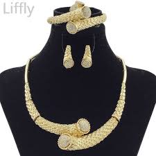 fashion necklace set images 2018 new fashion dubai crystal ball design jewelry sets african jpg
