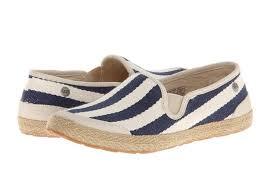 ugg delizah sale ugg s delizah stripe navy textile loafer sale 66 08