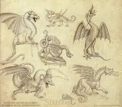historical dragon sketches by strecno on deviantart
