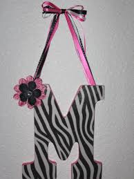bow holder cloudy day creations initial hair bow holder zebra hot pink