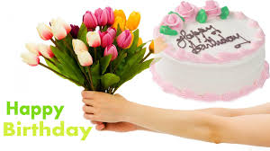 happy birthday flowers images wallpaper