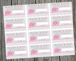 baby shower raffle instant printable raffle tickets pink elephant