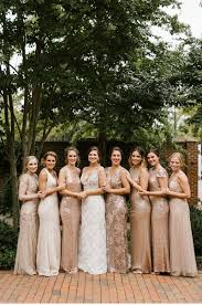 gold bridesmaid dresses tidewater inn wedding easton md sequin bridesmaid and