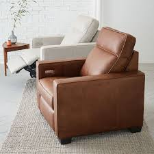 sofa bed recliner henry leather power recliner chair west elm