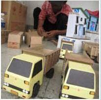 membuat miniatur mobil dari kardus kardus disulap jadi truk cari peluang usaha