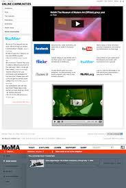nouveau si e social le nouveau site du ny moma un pas vers le web social exotech biz