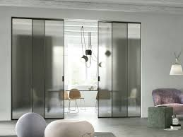 sliding tempered glass partition wall delineo scenario collection