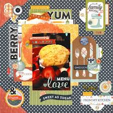 scrapbooking cuisine 95 best recipe scrapbook layouts images on recipe