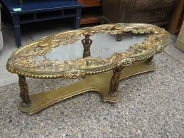 Vintage Glass Top Coffee Table Uhuru Furniture Collectibles Gold Rococco Coffee Table With