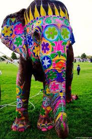 jesse treece collage king painted elephants elephants and