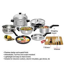 Induction Cooktop Cookware Buy 7 Pcs Induction Friendly Cookware Set Free Knife Set Online