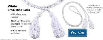 graduation cords for sale white graduation cords from honors graduation