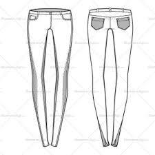 kids toddler 5 pocket jeans flat fashion sketch v18 ficha