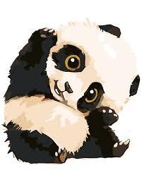 chambre bébé panda bricolage peinture à l huile mignon bébé panda salon chambre