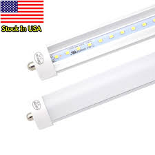 8 fluorescent light bulbs pack of 25 led 8 foot tube light bulb 6000k cold white fa8 single