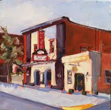 original urban america landscape oil painting plein air small art