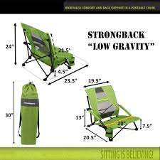 Lounge Chair Dimensions Ergonomics Amazon Com Strongback Elite Folding Camping Chair With Lumbar