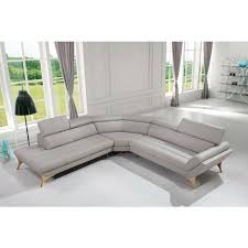 Blue Sectional Sofa With Chaise by Divani Casa Graphite Modern Grey Leather Sectional Sofa