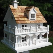 Costco Dog House Garden Bazaar White Cottage Novelty Bird House 28 X 30 X 23 Cm