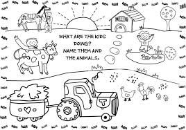 farm animal coloring book farm animals coloring book