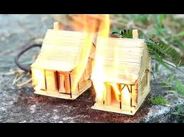 toothpick house what happens if the toothpick house burned youtube