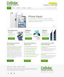 computer repair responsive website template 48444