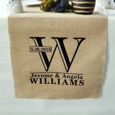 wedding reception table runners personalized table runner rustic wedding decor burlap table runner