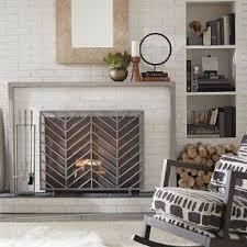 Single Fireplace Screen by Fireplace Screen Decorative Foter
