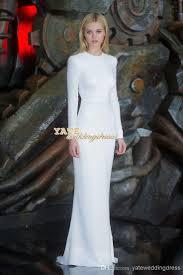 nicole piltz crew elegant white long sleeve evening party dresses