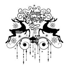 black and white clip art christmas cards pictures to pin on