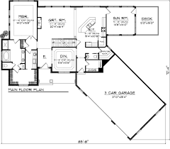 craftsman style house plan 3 beds 2 50 baths 2811 sq ft plan 70