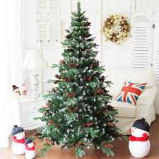 1 8m 6ft delux frosted artificial tree