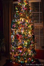 our tree with colored lights the whimsical
