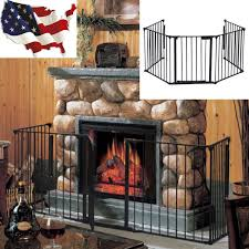 com fireplace fence baby safety fence hearth gate bbq metal fire gate pet dog cat baby