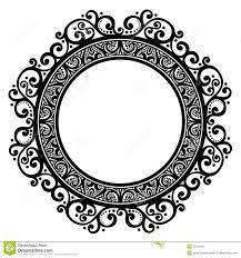 Beautiful Decoration Element Decorative Round Frame Beautiful Vector Snowflake Patterned Design