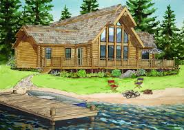 Log Home Ranch Floor Plans Lodge Logs Log Home Kits Dependable Contracting
