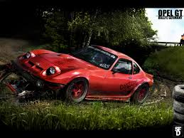 modded cars wallpaper opel gt art opel gt pinterest