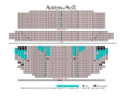seating chart academy of music