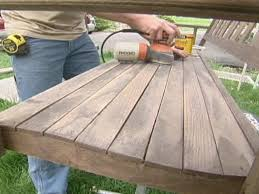 How To Build A Wood Patio by How To Refinish A Porch Swing How Tos Diy