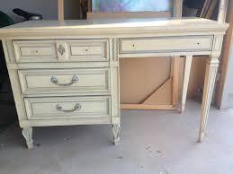 Whitewash Desk Mod Podge Furniture Laurenkellydesigns
