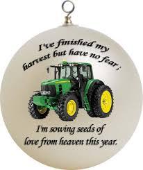 john deere christmas ornament custom gift custom