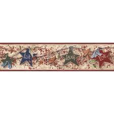 Western Wallpaper Border York Wallcoverings Inspired By Color Star Berry Wallpaper Border