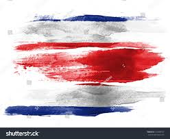 Costa Rico Flag Royalty Free The Costa Rica Flag Painted On White U2026 120390757