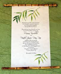 scroll invitations bamboo scroll invitations from designs by lenila news from lenila