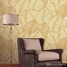 romantic pastoral atmosphere leaves deep embossed wallpaper