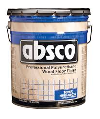 1 gallon container of absco gloss wood floor finish