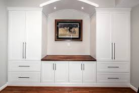 built in wall cabinets office table
