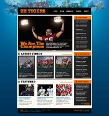 football website template free website templates