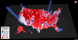 Map Of Election Results by Election 2016 County Level Results Mapped In 3d Blueshift