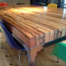wood block dining table butcher block dining table plans google search tukang kayu